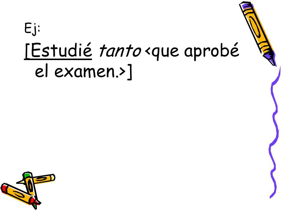 [Estudié tanto <que aprobé el examen.>]